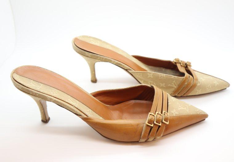 Louis Vuitton Pumps Mini Lin beige 39 1/2-0