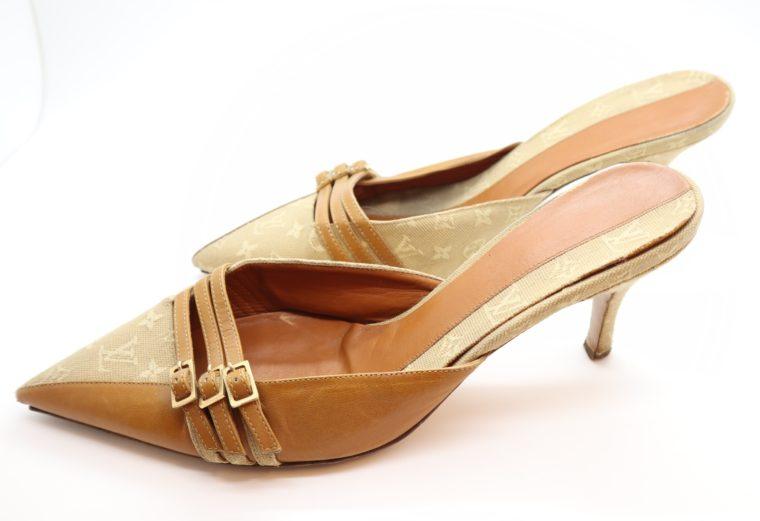 Louis Vuitton Pumps Mini Lin beige 39 1/2-14374
