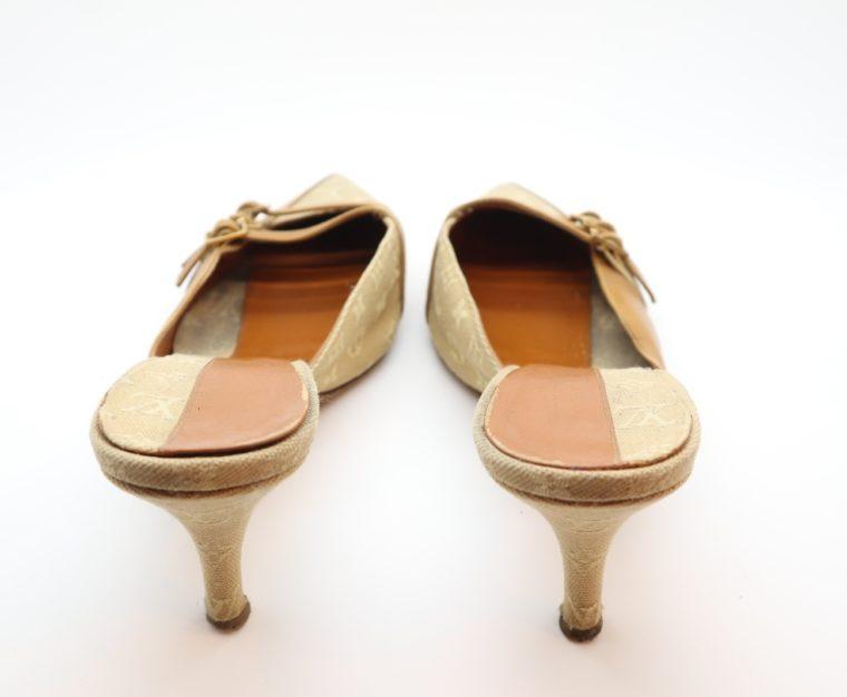 Louis Vuitton Pumps Mini Lin beige 39 1/2-14372