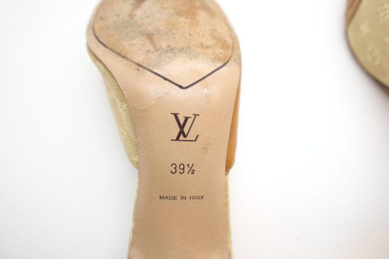 Louis Vuitton Pumps Mini Lin beige 39 1/2-14376