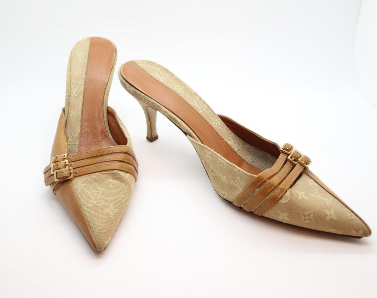 Louis Vuitton Pumps Mini Lin beige 39 1/2-14377