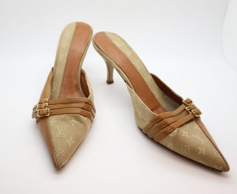 Louis Vuitton Pumps Mini Lin beige 39 1/2-14378