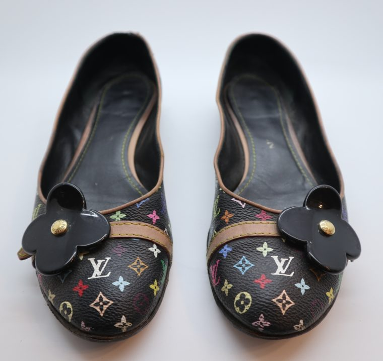 Louis Vuitton Ballerinas Multicolor schwarz 37 1/2-14421