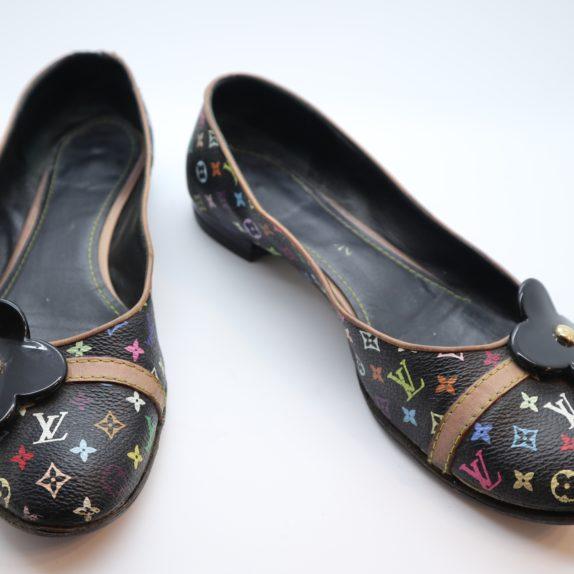 Louis Vuitton Ballerinas Multicolor schwarz 37 1/2