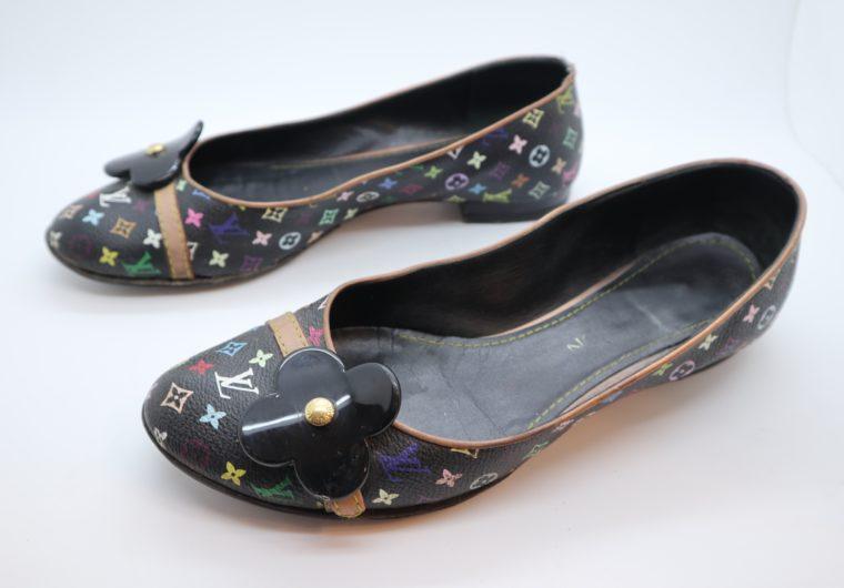 Louis Vuitton Ballerinas Multicolor schwarz 37 1/2-14418