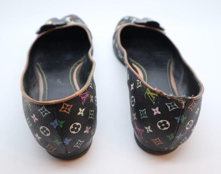 Louis Vuitton Ballerinas Multicolor schwarz 37 1/2-14420