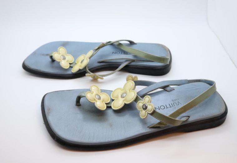 Louis Vuitton Sandalen Flip Flops blau 38-0