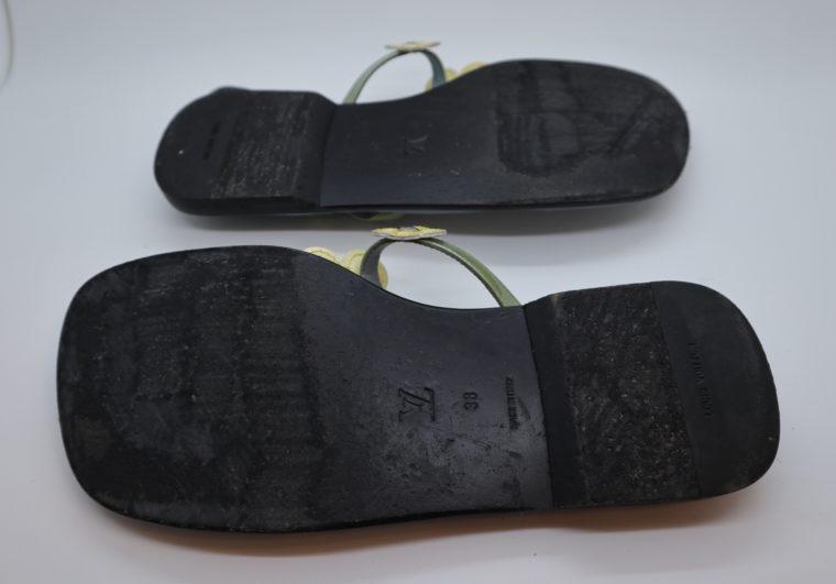 Louis Vuitton Sandalen Flip Flops blau 38-14427