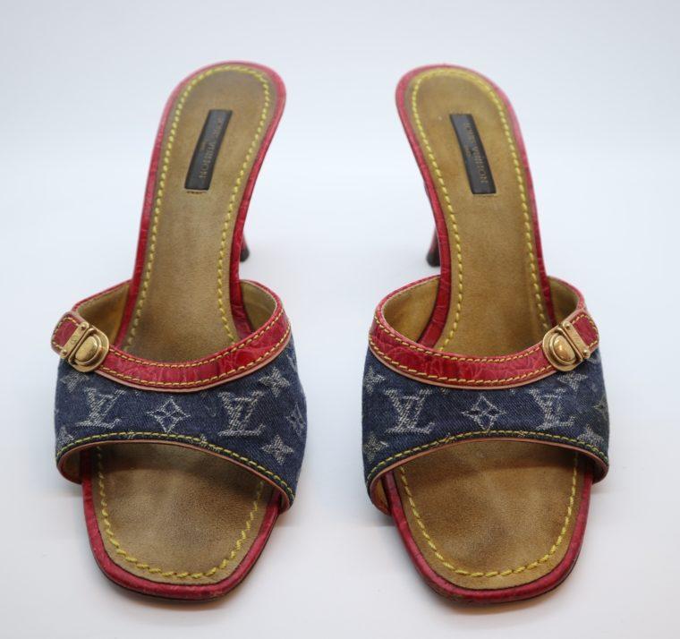 Louis Vuitton Pumps Krokodilleder Jeans 37 1/2-14441