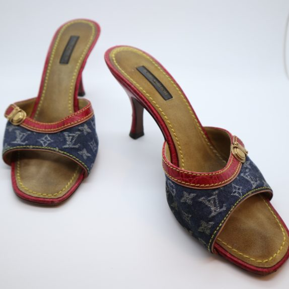 Louis Vuitton Pumps Krokodilleder Jeans 37 1/2