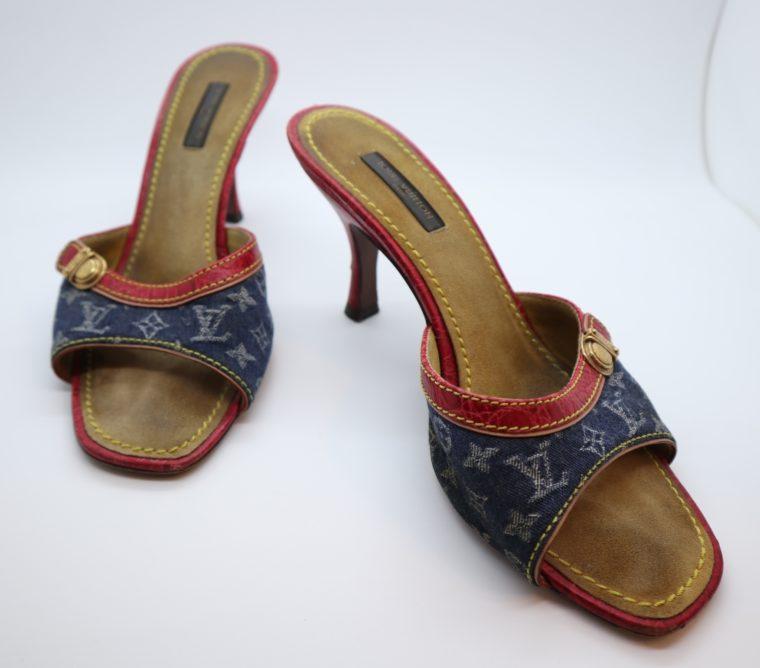 Louis Vuitton Pumps Krokodilleder Jeans 37 1/2-0