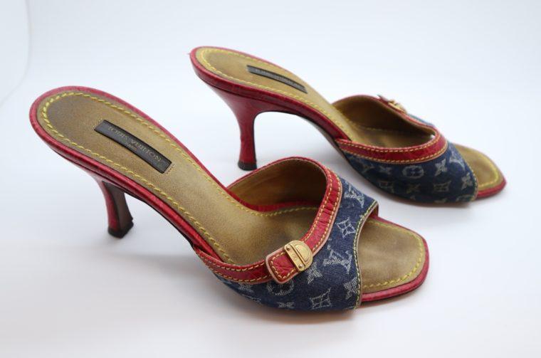 Louis Vuitton Pumps Krokodilleder Jeans 37 1/2-14443