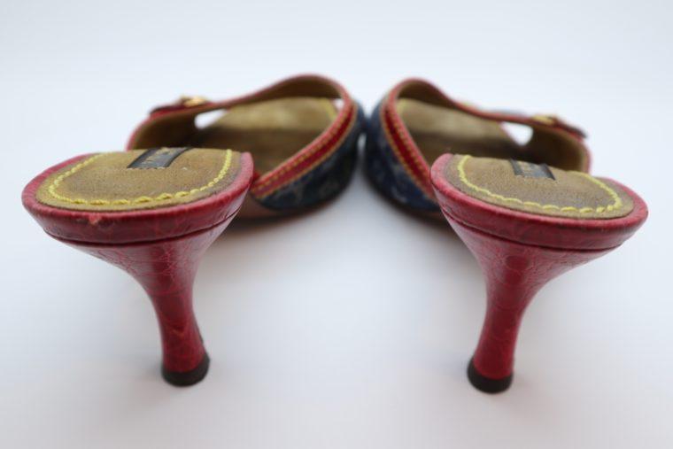 Louis Vuitton Pumps Krokodilleder Jeans 37 1/2-14442