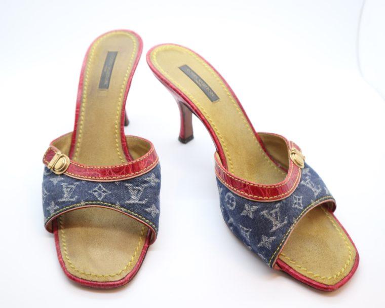 Louis Vuitton Pumps Krokodilleder Jeans 39-14450