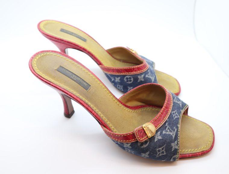 Louis Vuitton Pumps Krokodilleder Jeans 39-14448