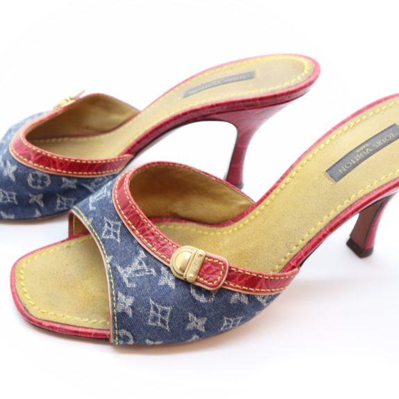 Louis Vuitton Pumps Krokodilleder Jeans 39