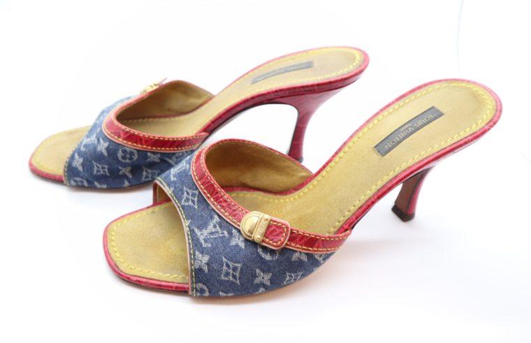 Louis Vuitton Pumps Krokodilleder Jeans 39-0