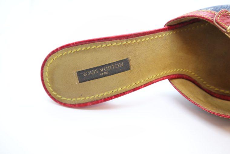 Louis Vuitton Pumps Krokodilleder Jeans 39-14453