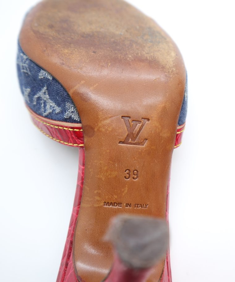 Louis Vuitton Pumps Krokodilleder Jeans 39-14452