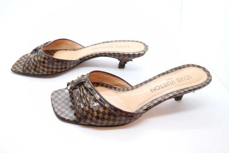 Louis Vuitton Pumps Damier Ebene 37 1/2-14465