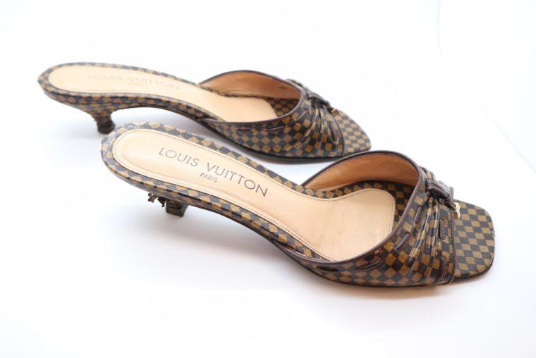 Louis Vuitton Pumps Damier Ebene 37 1/2-14466
