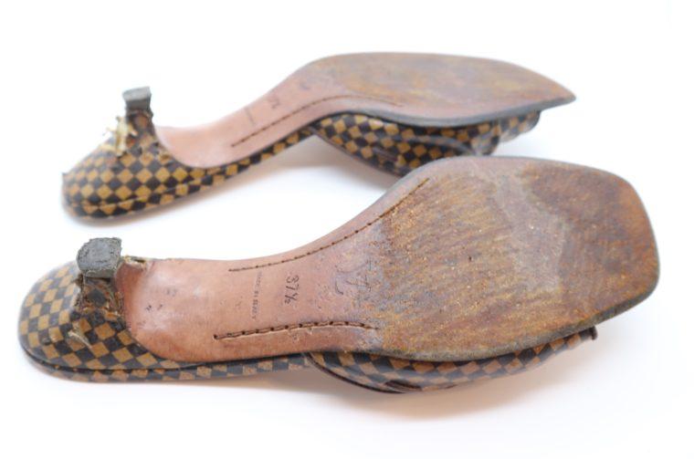 Louis Vuitton Pumps Damier Ebene 37 1/2-14469