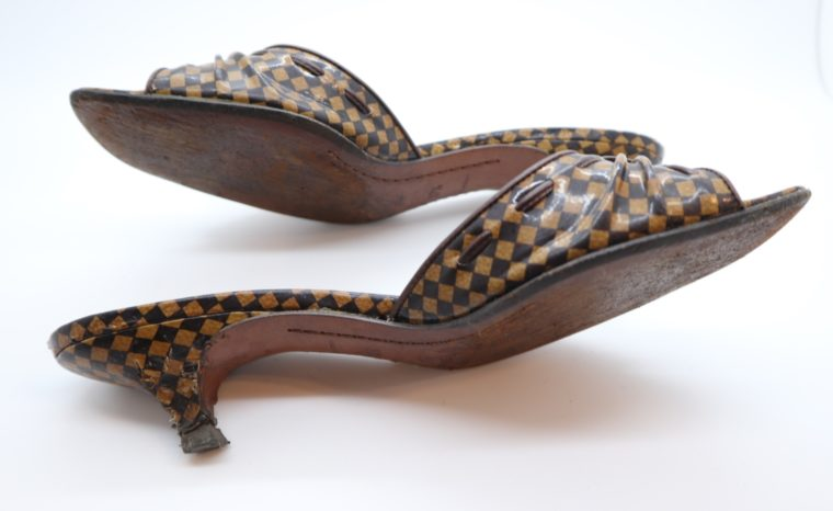 Louis Vuitton Pumps Damier Ebene 37 1/2-14471