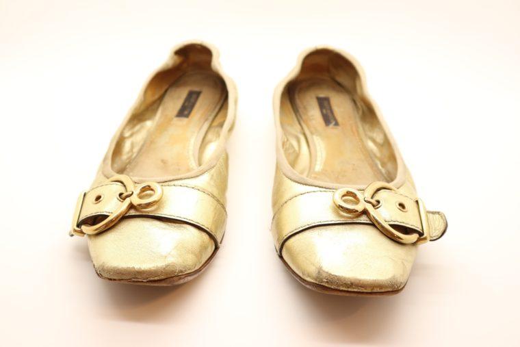 Louis Vuitton Ballerinas gold 39 1/2-14614