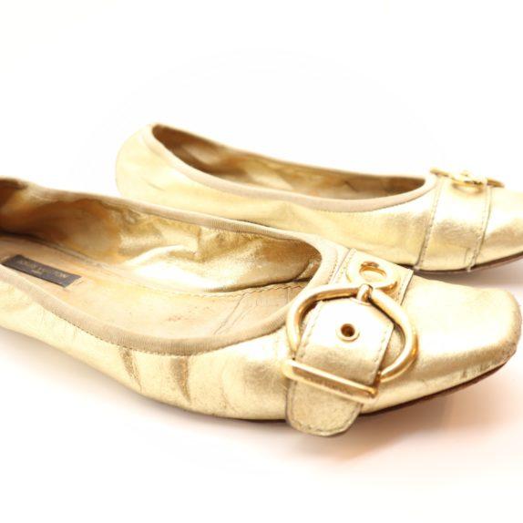 Louis Vuitton Ballerinas gold 39 1/2