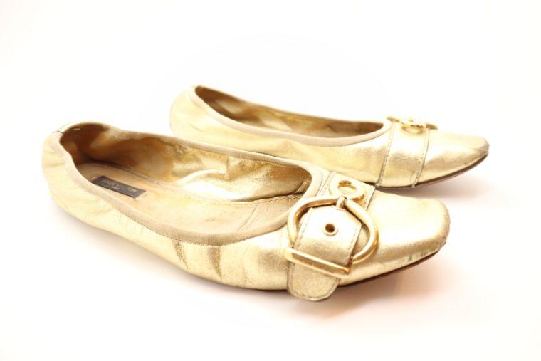 Louis Vuitton Ballerinas gold 39 1/2-0