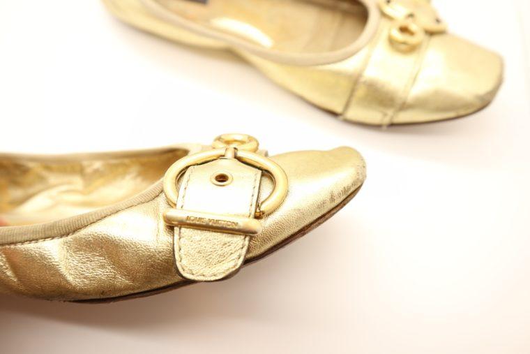 Louis Vuitton Ballerinas gold 39 1/2-14619