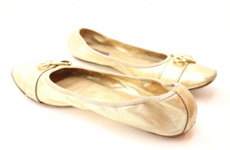 Louis Vuitton Ballerinas gold 39 1/2-14615