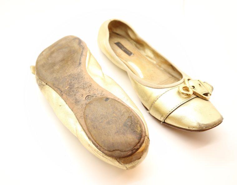 Louis Vuitton Ballerinas gold 39 1/2-14616