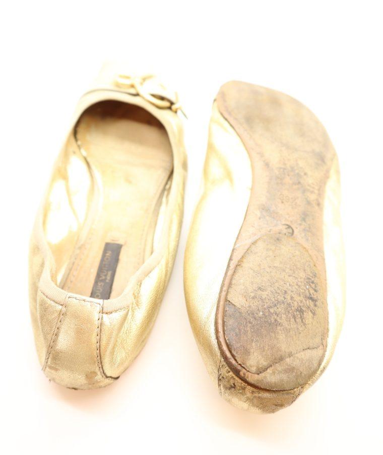 Louis Vuitton Ballerinas gold 39 1/2-14618