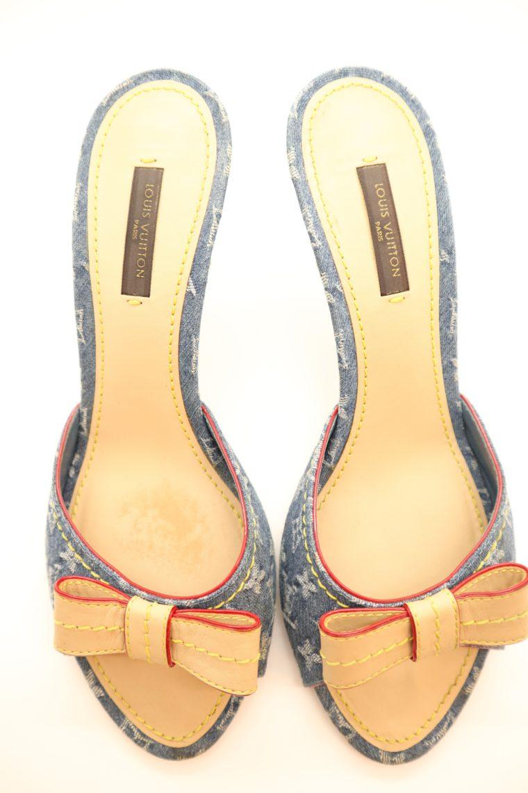 Louis Vuitton Pumps Jeans Denim 38 1/2-14633
