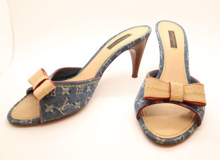 Louis Vuitton Pumps Jeans Denim 38 1/2-14630
