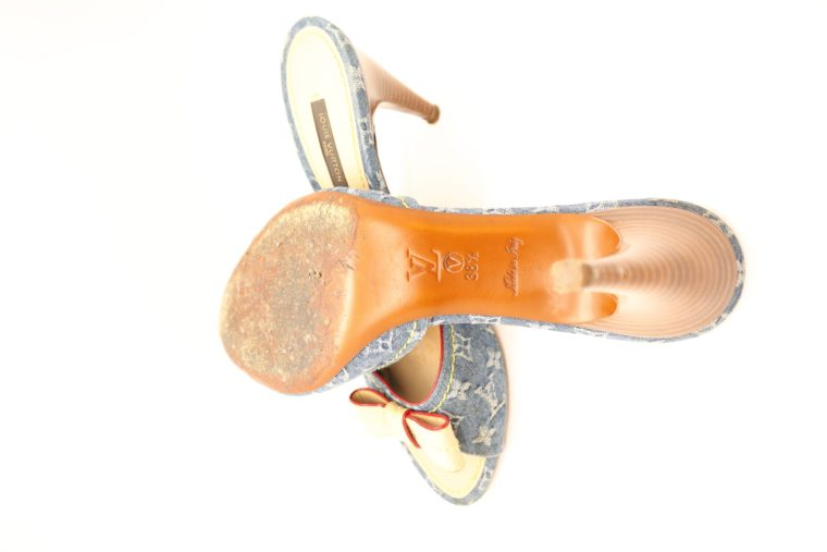 Louis Vuitton Pumps Jeans Denim 38 1/2-14632