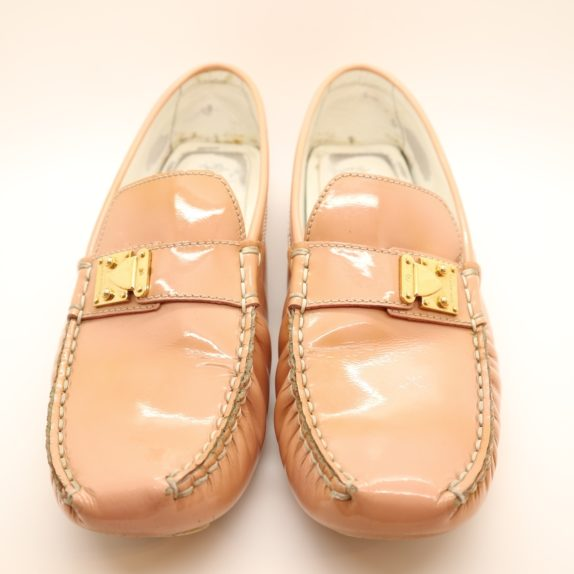Louis Vuitton Loafer Vernis Leder rosa 38 1/2