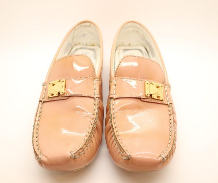 Louis Vuitton Loafer Vernis Leder rosa 38 1/2-0
