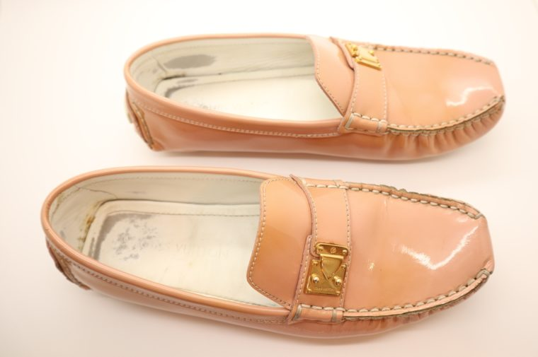 Louis Vuitton Loafer Vernis Leder rosa 38 1/2-14639