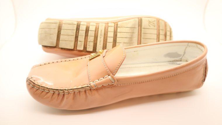 Louis Vuitton Loafer Vernis Leder rosa 38 1/2-14640