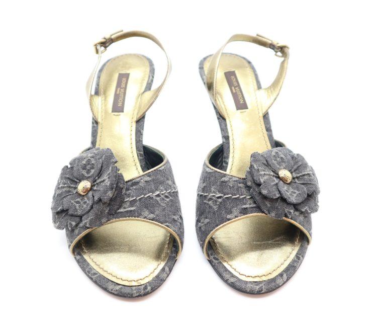 Louis Vuitton Pumps Jeans gold 37-14675