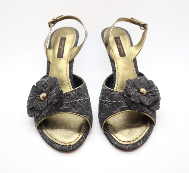 Louis Vuitton Pumps Jeans gold 37-14677