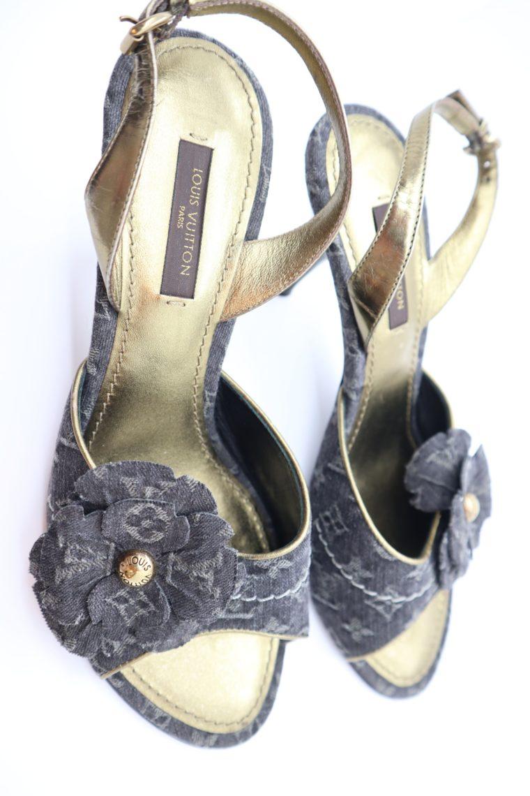 Louis Vuitton Pumps Jeans gold 37-14678
