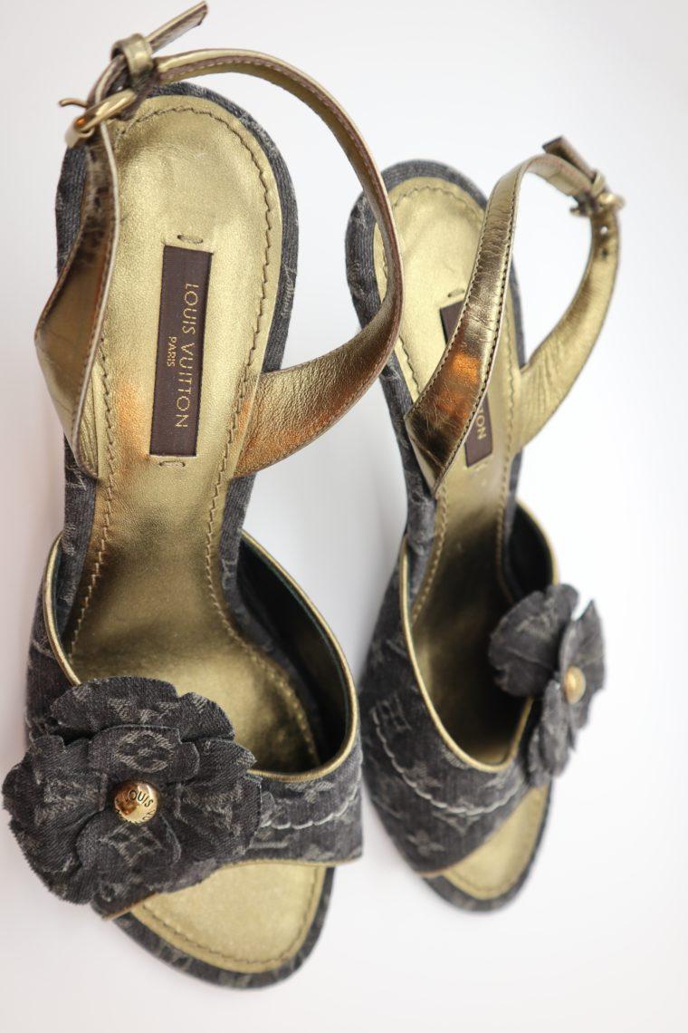 Louis Vuitton Pumps Jeans gold 37-14680