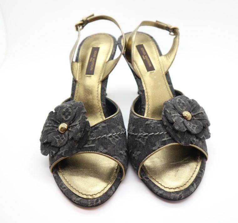 Louis Vuitton Pumps Jeans gold 37-14682