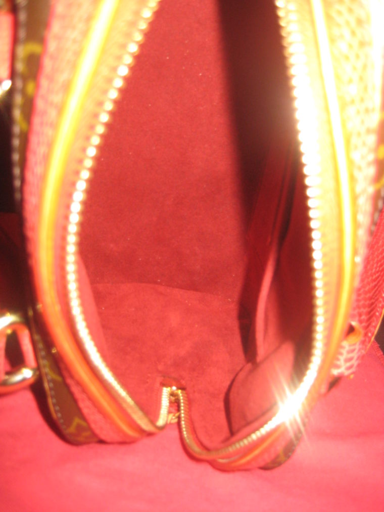 Louis Vuitton Sac Femior Eidechsenleder Cerise -1057