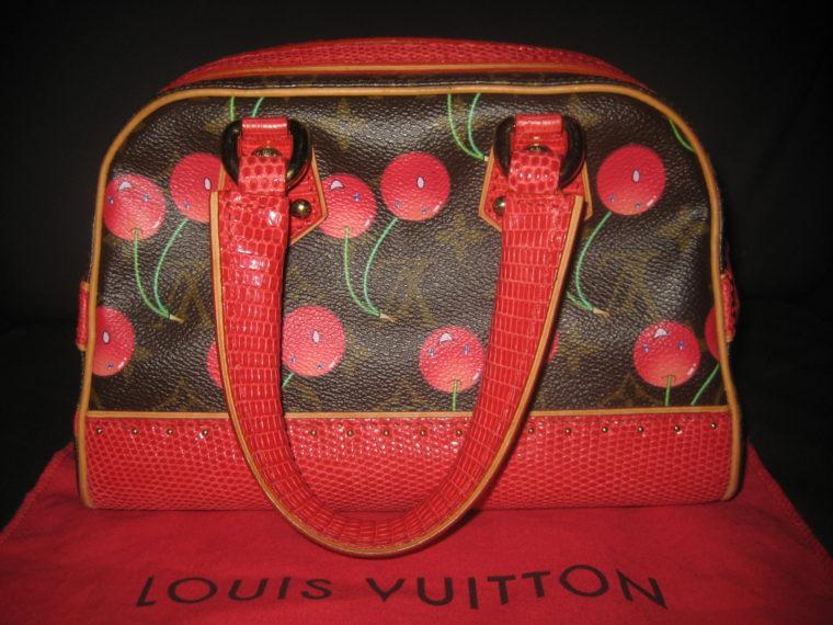 Louis Vuitton Sac Femior Eidechsenleder Cerise -1074