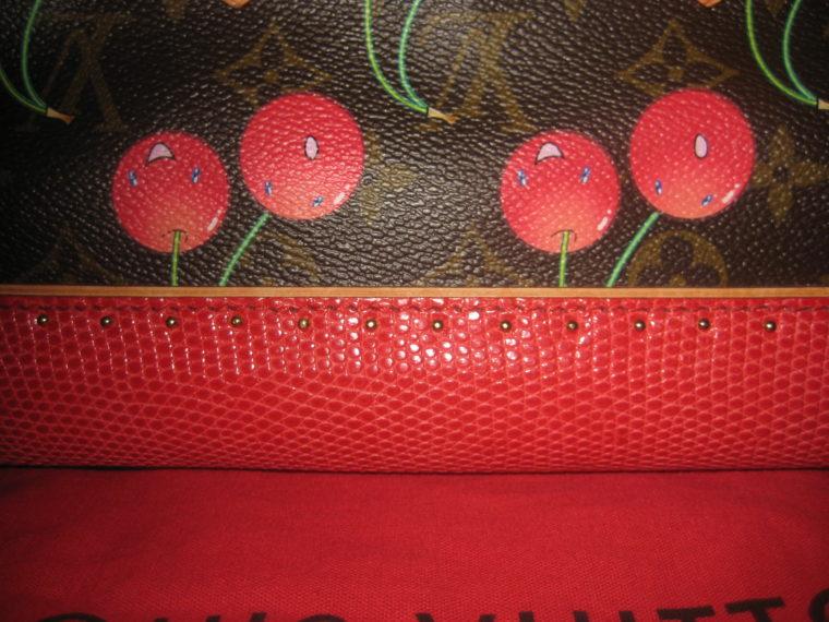Louis Vuitton Sac Femior Eidechsenleder Cerise -1071