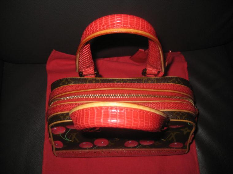Louis Vuitton Sac Femior Eidechsenleder Cerise -1068